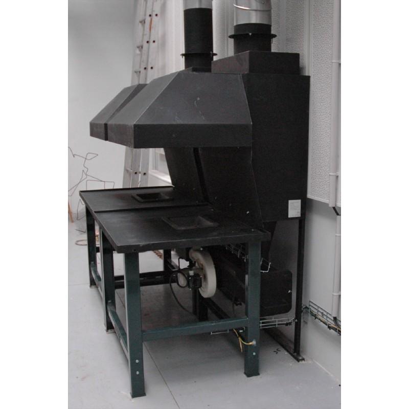Hotte de forge qui filtre suie et poussière