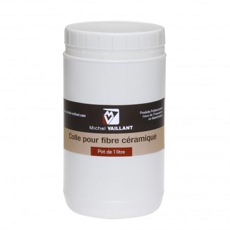 Colle pour fibre isolante de forge a gaz